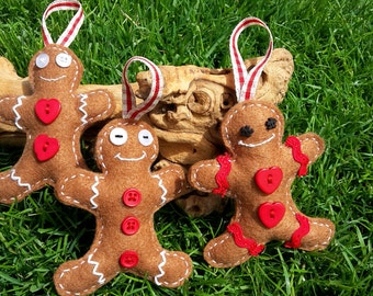 Gingerbread Man, Gingerbread Man Decoration, Christmas Gingerbread Man, Felt Gingerbread Man, Christmas Decorations