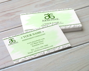 Arbonne Inspired Business Card - Damask - Digital Download - Printable Business Card - Printable Arbonne