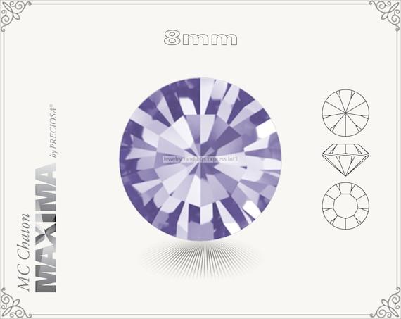 6 pc.+ SS39 (8mm) Preciosa MC Chaton MAXIMA - Tanzanite Color