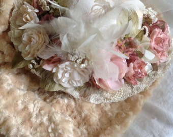gorgeous shabby chic teatime hat