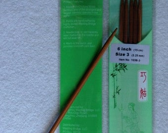 Chia Goo Premium Bamboo knitting needles double pointed size 3 6in long