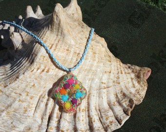Candy-colored gold necklace-purple-leaf
