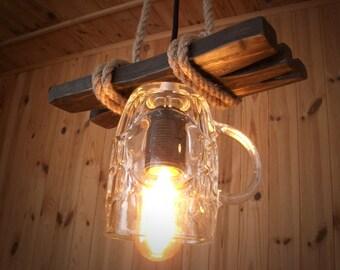 beer lamp etsy. Black Bedroom Furniture Sets. Home Design Ideas