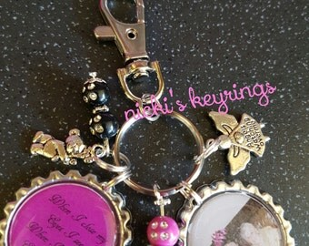 "Memory keyring ""When I close my eyes i see you"" keyring miss you"
