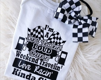 Love racing outfit, Racing onesie, Nascar outfit, Checkered racing headband, Nascar onesie, Toddler racing shirt, Racing flag