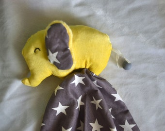 Baby Shower Gift Idea Tag blanket grey yellow tag blanket cute elephant gift newborn baby tag blanket gift idea baby soft toy elephant toy
