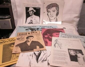 Vintage Bundle of Elvis Presley Fan Club Zines