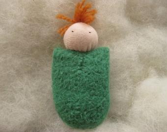 Green Pocket Doll