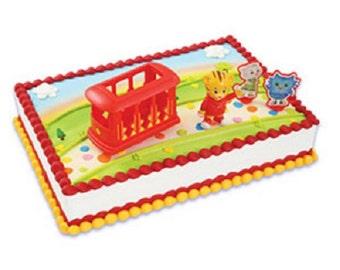 Daniel Tiger Cake Decoration Cake Topper Neighborhood Trolley & Friends Set