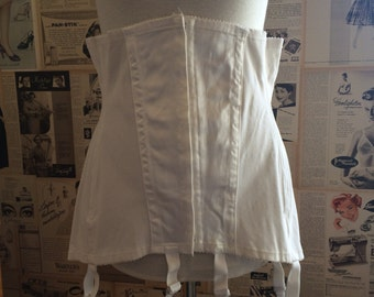 Vintage girdle corset suspender belt from the 1950's or 1960's Made in Sweden Large XL