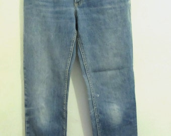 Vintage 80's,Faded HI Waist TAPERED Leg BELGIUM Jeans By Lee.7L