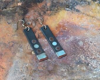 Raku Earrings Dangle