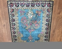 "2-12  Pure Natural Silk - Old Persian Collectio - Hand knotted prayer carpet - 487094 (WK87A) 2'1"" x 3'1"""