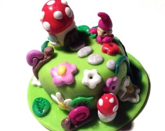 polymer clay birthday cake