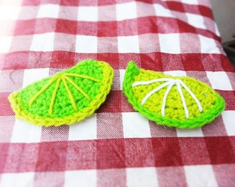 Lime Hair Clip/Pin