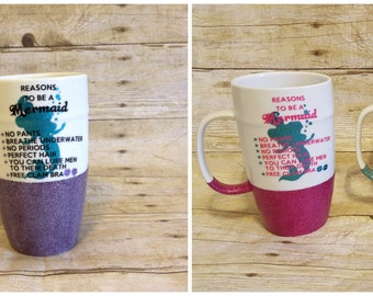 Mermaid Glitter Mug