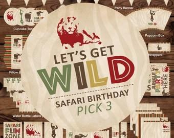 Jungle Printable Party, Safari Party Printable, Jungle Safari Printables, Zoo Printable Party, Safari Party Package, Jungle Party Kit