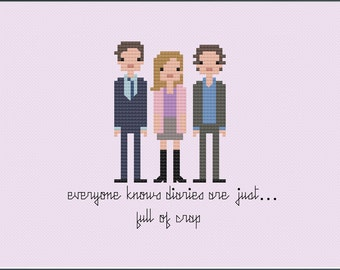 8-Bit Wonder - Bridget Jones's Diary PDF Cross-Stitch Pattern