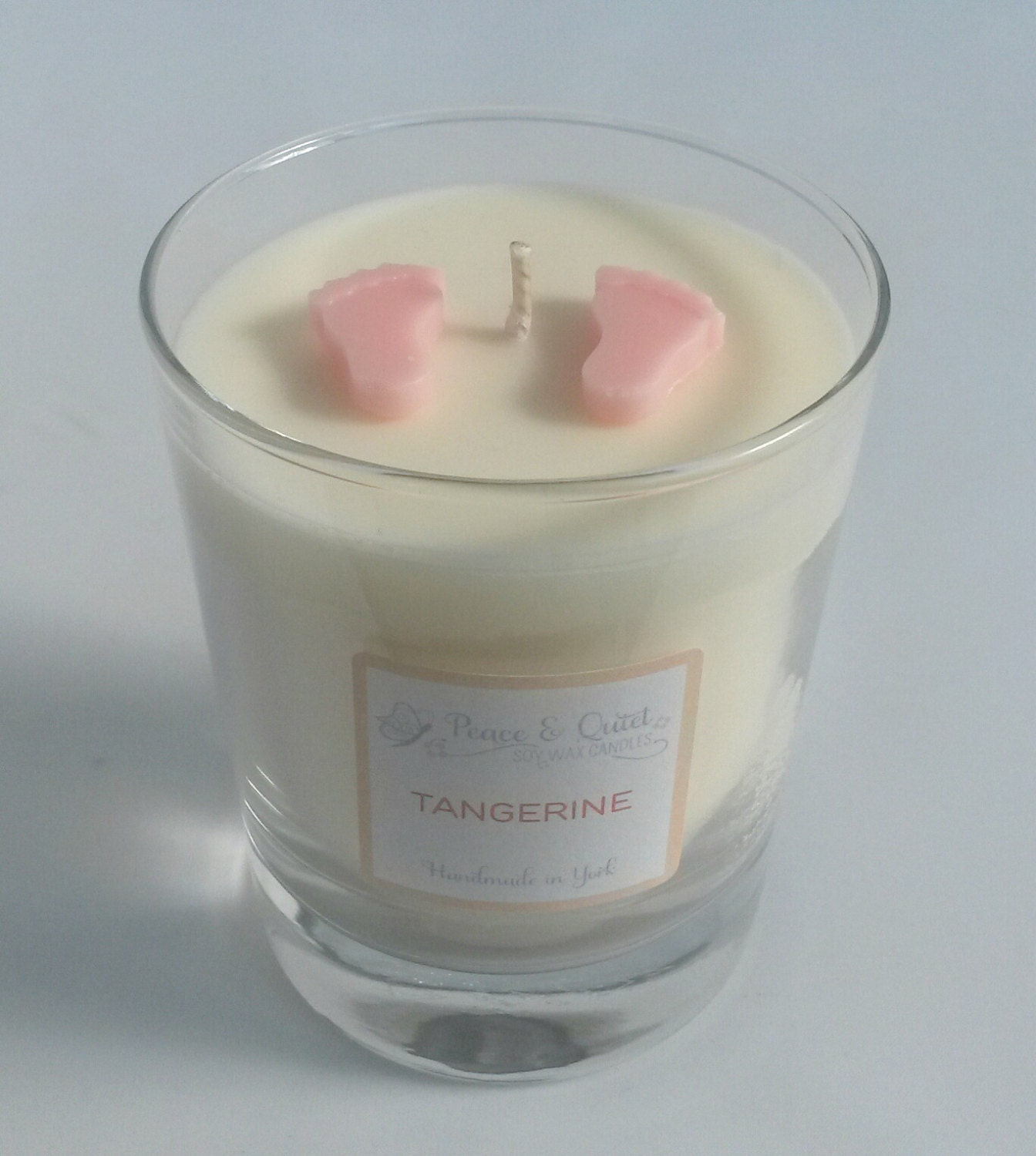 Candle baby soy wax pink baby feet decoration by for Baby feet decoration