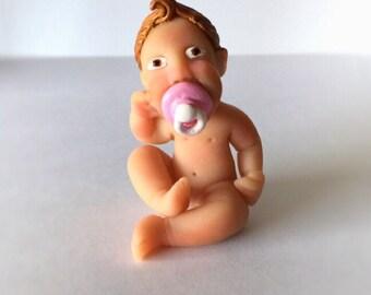 Handmade miniature baby
