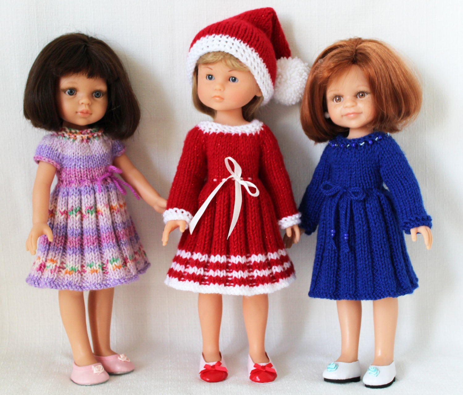 Knitting pattern for Holiday Dresses and Hat for Paola Reina