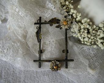 Vintage antique miniature metal picture frames nostalgia