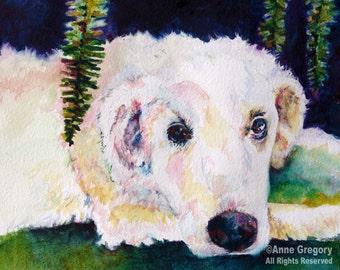 CUSTOM Beloved Pet Portrait in Watercolor