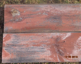 2 pieces very old reclaimed barn siding