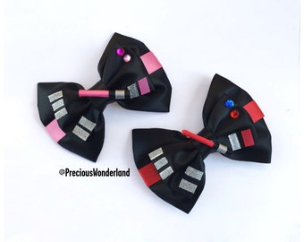 Pink Dark Side Inspired Hair Bow