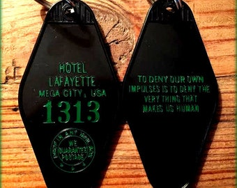 "Matrix Inspired ""Hotel Lafayette"" keytag"