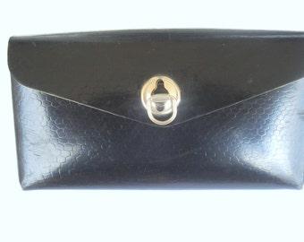 Vintage Soviet Real bicycle bag/ Accessories Tools Biking Soviet Vintage Bicycle Case /Tool bag/Black leather tool pouch/ 1970s