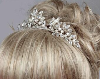 Wedding Tiara, Pearl Tiara, Crystal Tiara, Pearl & Crystal Tiara, Bridal Tiara