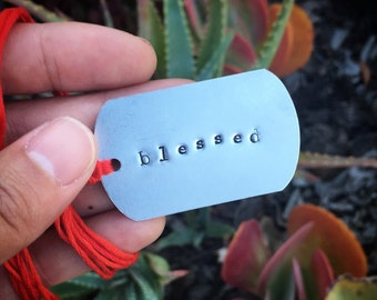 "Free ""blessed"" Metal Bookmark"