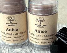 for Man Deodorant Licorice - Anise - Man deodorant - Natural Deodorant - Organic Shea butter Deodorant - Purse size Deodorant (1oz)w