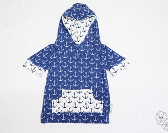 Anchor hooded T-Shirt with pocket - 5-6 years
