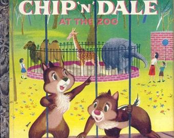 Vintage 1950's Little Golden Book~Chip N' Dale 1st Ed.