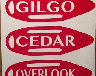 Lifeguard rescue torpedo sticker