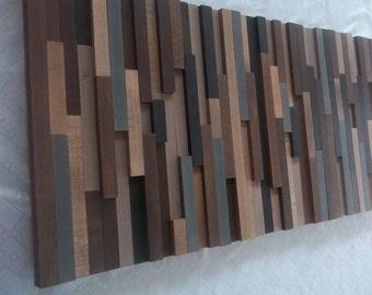 Wood wall art brown
