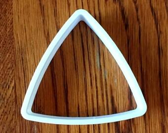 Puffy triangle polymer clay cutter