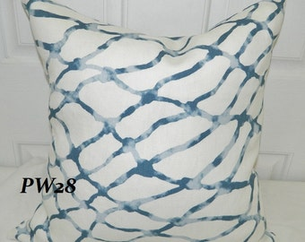 KRAVET- Jeffrey Alan Marks- Waterpolo/ Decorative Throw Pillow, Lumbar Pillow Cover /Both Sides/Choose From 3 Colors-River, Stone or Lagoon