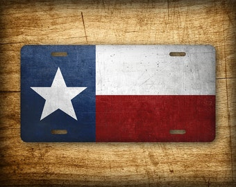 Texas State Flag License Plate TX Official Flag Symbol Auto Tag 6x12 Aluminum Metal Sign