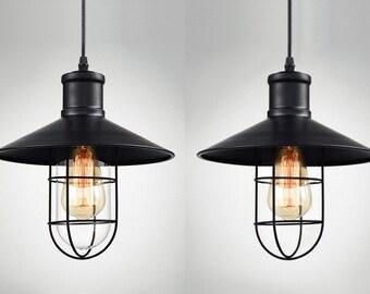 Iron Pendant Light Fixture For Bar Retro Light Fixture Vintage Industrial  Chandelier Pendant Light Lantern Chandelier