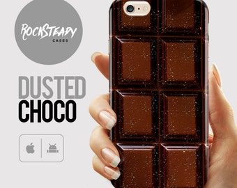 Chocolate bar iphone 6s case, candy bar iPhone 6s Plus, 6, SE, 5S, 5C case, Samsung Galaxy S7, S6, S5, food lover cell phone case gift UK
