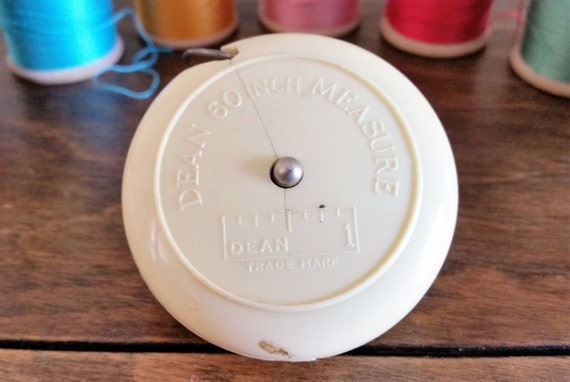 78 On Tape Measure: Vintage Tape Measure Dean Measuring Tape Retractable