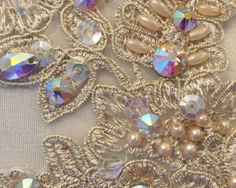 Speciality Swarovski Rhinestone upgrade to large and hand sewn thinestones  3 dozen  ( to add to a costume order only)