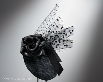 Fascinator Black Rose