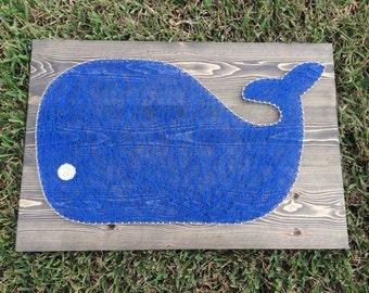 CUSTOM Whale String Art