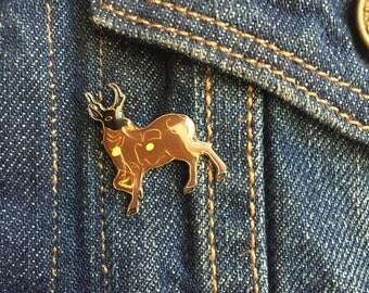 Vintage Deer Enamel Pin