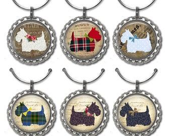 Scottie Dog Wine Charms, Wine Accessories, Wine Lover Gift, Co-Worker Gifts, Dog Lover Gift
