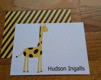 Children's Giraffe Stationery